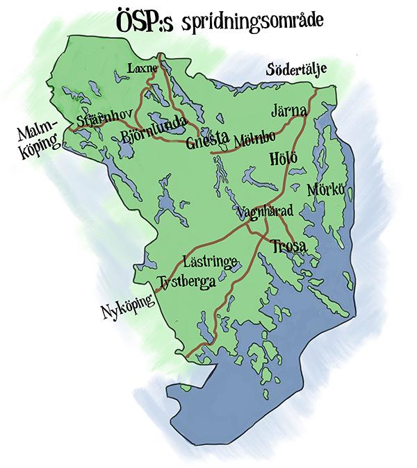 Karta utgivningsområde TG